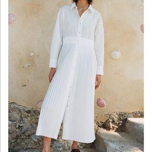 Zara Poplin Shirt Dress